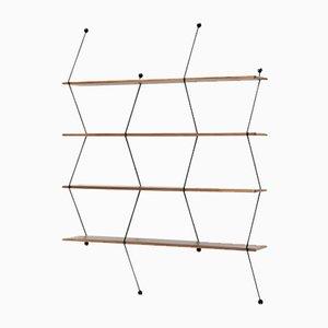 Climb Regal aus Nussholz und mit schwarzer Struktur von Bashko Trybek für La Chance