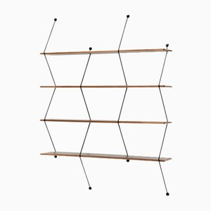 Climb Storage Unit with Walnut and Black Structure by Bashko Trybek for La Chance