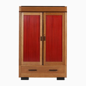 Art Deco Haagse School Oak Wardrobe from Fa. Drilling Amsterdam, 1920s