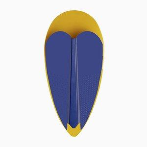 Gold- und Blaufarbene Sorcier Lampe von Marta Bakowski für La Chance