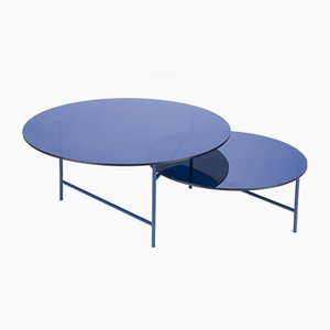 Tavolino da caffè Zorro blu di Note Design Studio per La Chance