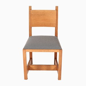 Art Deco Haagse School Oak Chairs by H. Wouda for H. Pander & Zn, 1924, Set of 4
