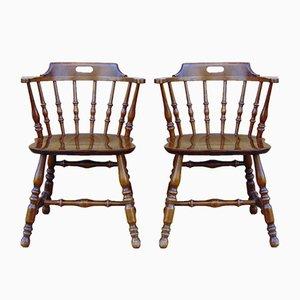 Mid-Century Stühle aus Holz, 1950er, 2er Set