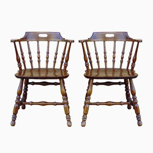 Mid-Century Wooden Chairs, 1950s, Set of 2