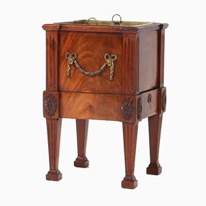 Antique Dutch Mahogany Louis XVI Wine Cooler, 1790s