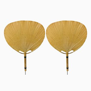 Uchiwa Wall Sconces by Ingo Maurer, 1970s, Set of 2