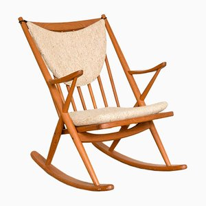 Rocking Chair par Frank Reenskaug pour Bramin, Danemark, 1960s