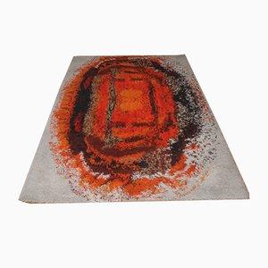 Vintage Teppich mit Flammen-Muster