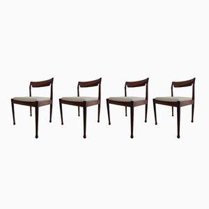 Esszimmerstühle aus Palisander, 1970er, 4er Set