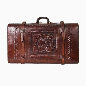 Vintage South American Leather Trunk