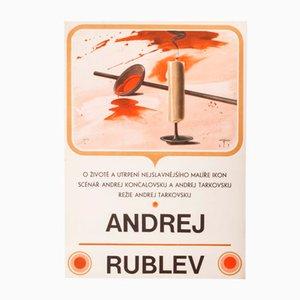 Vintage Czechoslovakian Andrei Rublev Poster by Jan Kratochvíl, 1969