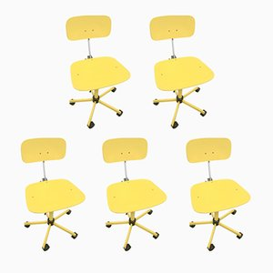 Vintage Danish Drafting Chairs by Jørgen Rasmussen for Rabami, 1975, Set of 5