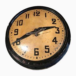 Reloj de estación alemán industrial Mid-Century, años 50