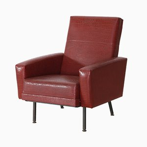 Mid-Century Red Armchair