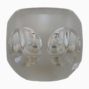 Lámpara de mesa vintage pequeña de cristal tallado