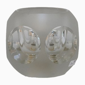Small Vintage Cut Glass Table Lamp