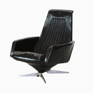 Mid-Century Black Lounge Chair