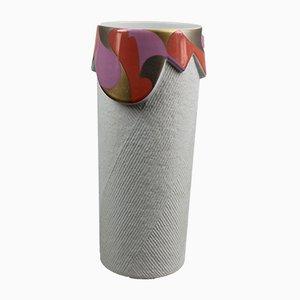 Vaso vintage cilindrico in porcellana di Johan van Loon per Rosenthal