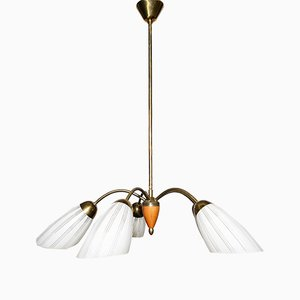 Mid-Century 5-Arm Chandelier
