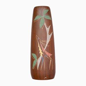 Large Dutch Ceramic Floor Vase from Herman Van Den Kronenberg, 1950s