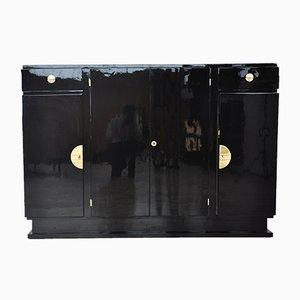 Art Deco Highboard with Brass Fittings