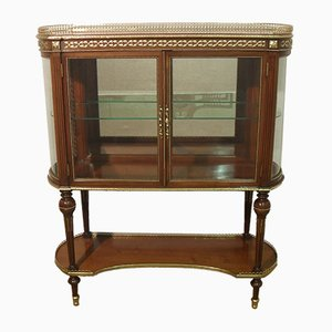 American Mahogany Glazed Display Cabinet, 1900s