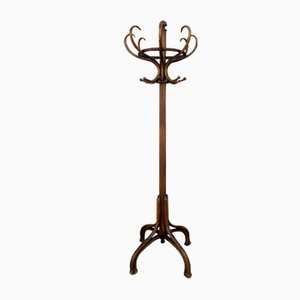 Antique Beech Wood Coat Rack by Michael Thonet for Thonet