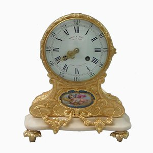 French Bronze Gilt Mantel Clock from Leroy & Fils, 1870s