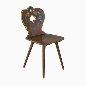 Französischer Vintage Volkskunst-Stuhl, 1950er
