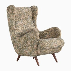 Italian Wingback Lounge Chair, 1950s