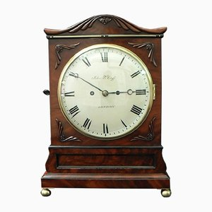 William IV Mahogany Bracket Clock from John Berryhill Cross, 1835