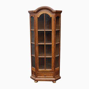 Oak Corner Cabinet, 1940s