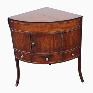 Antique Mahogany Corner Washstand, 1850s