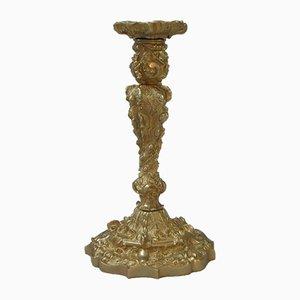 Portacandela rococò in bronzo dorato, Francia, fine XIX secolo, set di 2