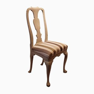 Rococo Dining Chair with Striped Upholstery, 1760