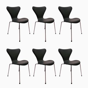 Model 3107 Chairs by Arne Jacobsen for Fritz Hansen, 1967, Set of 6