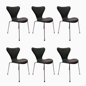 Modell 3107 Stühle von Arne Jacobsen für Fritz Hansen 1967, 6er Set
