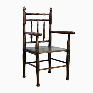 Chaise pour Enfant Antique en Hêtre