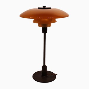 Bernsteinfarbene Tischlampe von Poul Henningsen für Louis Poulsen, 1930er