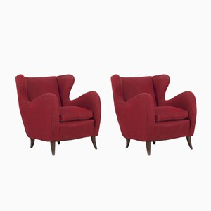 Italienische Vintage Sessel von Melchiorre Bega, 1950er, 2er Set