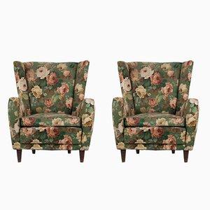Italienische Vintage Sessel, 1950er, 2er Set