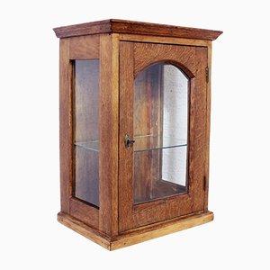 Vitrina vintage de madera, años 30