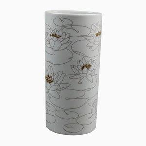 Vase Ovale Waterlilies en Porcelaine de Rosenthal Studio Line, 1970s