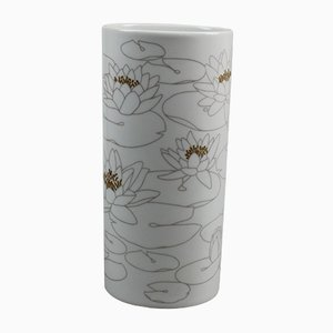 Vaso ovale in porcellana con ninfee di Rosenthal Studio Line, anni '70