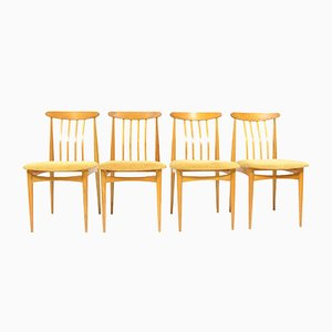 Vintage Beech Dining Chairs by Dřevotvar, Set of 4