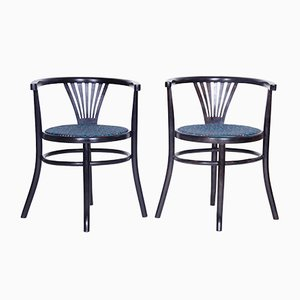 Vintage Banker Chairs from Thonet Mundus, Set of 2