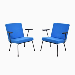 Model 1401 Lounge Chairs by Wim Rietveld for Gispen, 1954, Set of 2