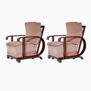 Vintage Czech Armchairs, Set of 2