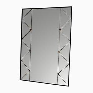 Espejo sueco de paneles de G & T Glas, años 50