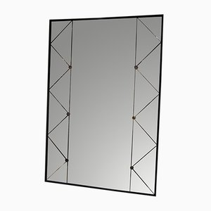 Swedish Trellis Panelled Mirror from G & T Glas, 1950s